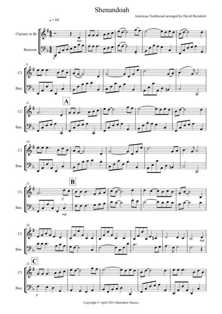 Shenandoah for Clarinet and Bassoon