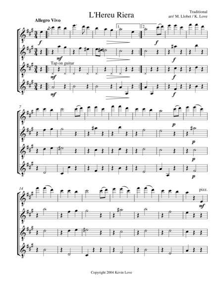 L'Hereu Riera (Guitar Quartet)