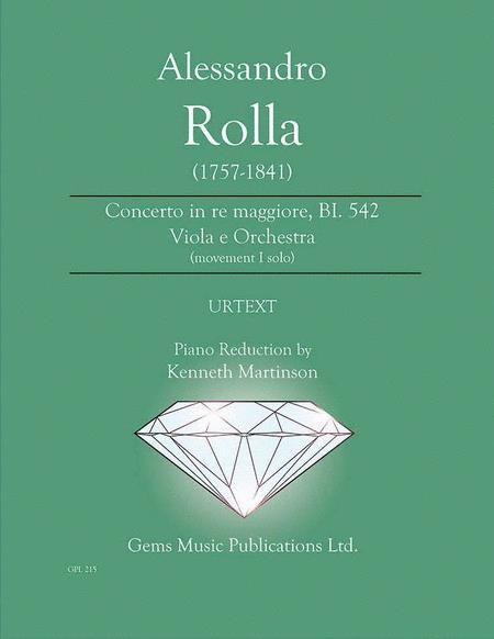 Concerto in re maggiore, BI. 542 Viola e Orchestra