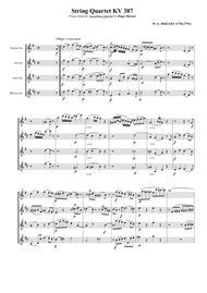 String Quartet KV 387