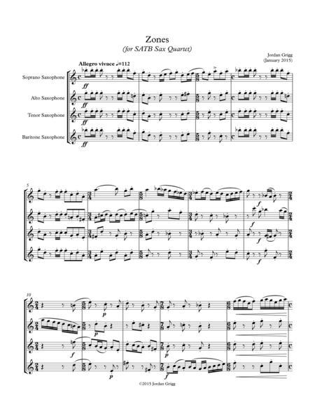 Zones (for SATB Sax Quartet)