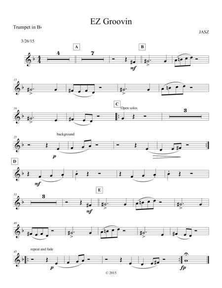 EZ Groovin - Trumpet