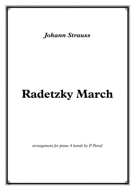 Radetzky March - for piano 4 hands