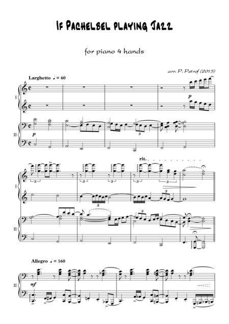 If Pachelbel playing Jazz - for piano 4 hands