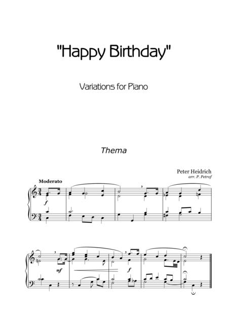 Happy Birthday Variations - for piano solo
