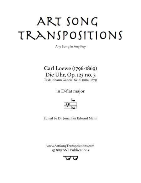 Die Uhr, Op. 123 no. 3 (D-flat major)