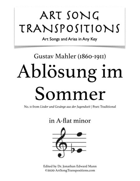 Ablösung im Sommer (A-flat minor)