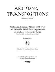Als Luise die Briefe, K. 520 (D minor)