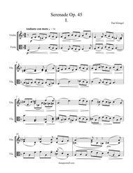 Serenade Op. 45 Movement 1