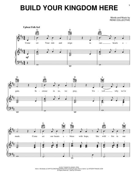 Download Build Your Kingdom Here Sheet Music By Rend Collective