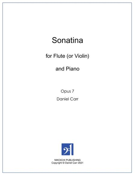 Sonatina for Yumi for Flute (or Violin) And Piano - Opus 7