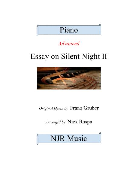 Essay on Silent Night II (advanced piano solo)