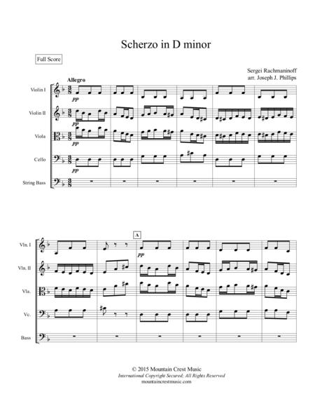 Scherzo in d minor-score