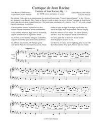Cantique de Jean Racine (SATB)