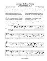 Cantique de Jean Racine (SSAA)