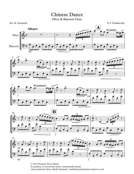Chinese Dance (Nutcracker Suite): Oboe & bassoon Duet
