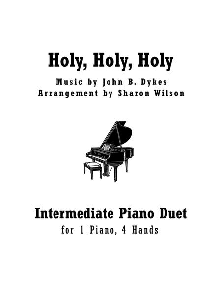 Holy, Holy, Holy (Intermediate Piano Duet; 1 Piano, 4 Hands)
