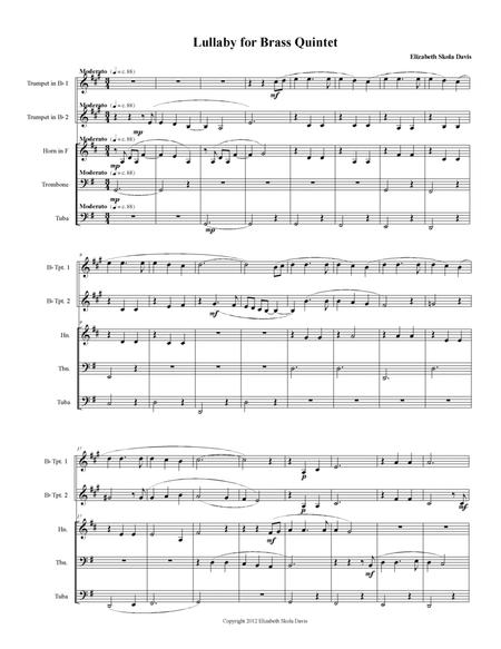 Lullaby for brass quintet