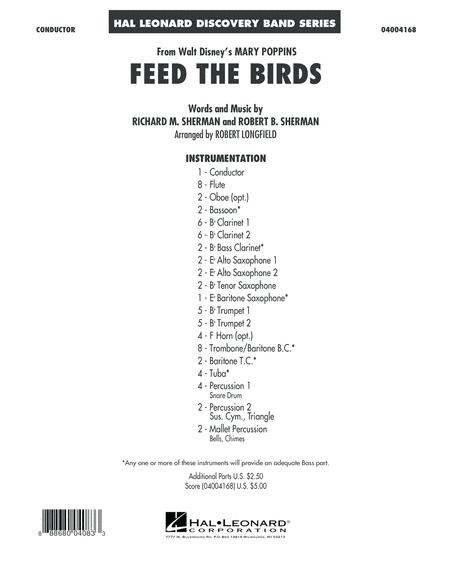Feed the Birds (from Mary Poppins) - Conductor Score (Full Score)