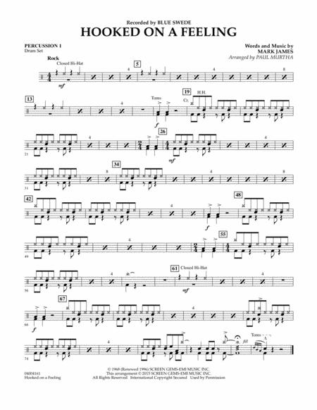 Hooked On A Feeling - Percussion 1