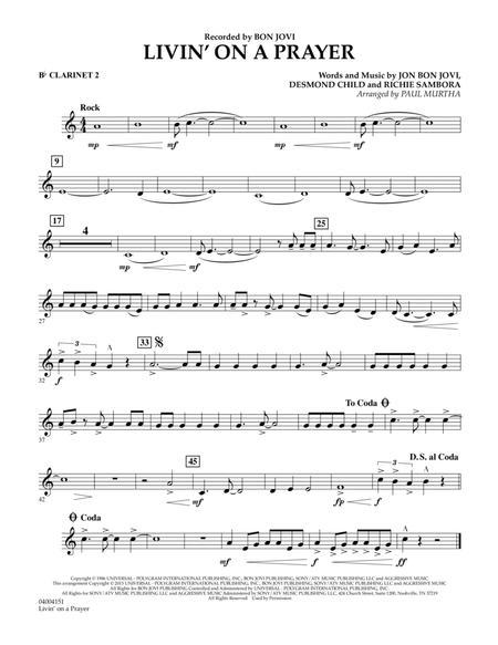 Livin' On A Prayer - Bb Clarinet 2