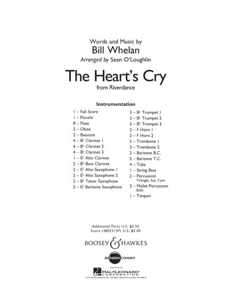 The Heart's Cry (from Riverdance) - Conductor Score (Full Score)