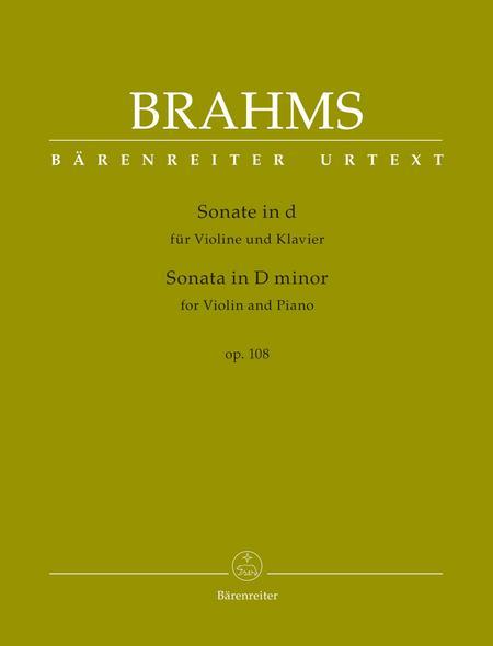 Sonata for Violin and Piano D minor op. 108