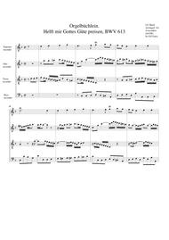 Helft mir Gottes Guete preisen, BWV 613 from Orgelbuechlein