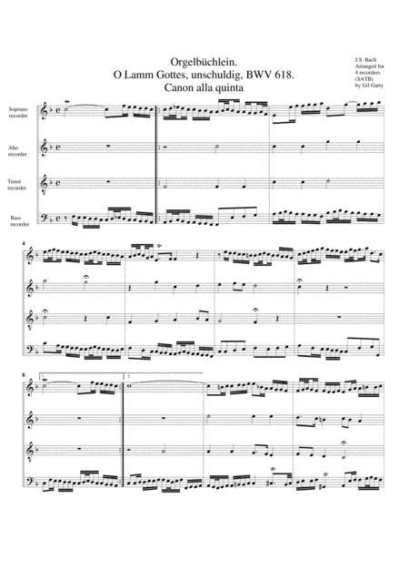 O Lamm Gottes, unschuldig, BWV 618 from Orgelbuechlein