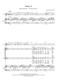 O Taste and See / Kostet und seht (Psalm 34) for STB (or SAB) voices, piano & optional flute (German / English)