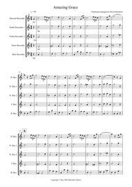 Amazing Grace for Recorder Quintet