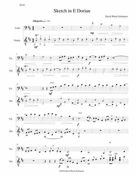 Sketch in E Dorian for cello and guitar
