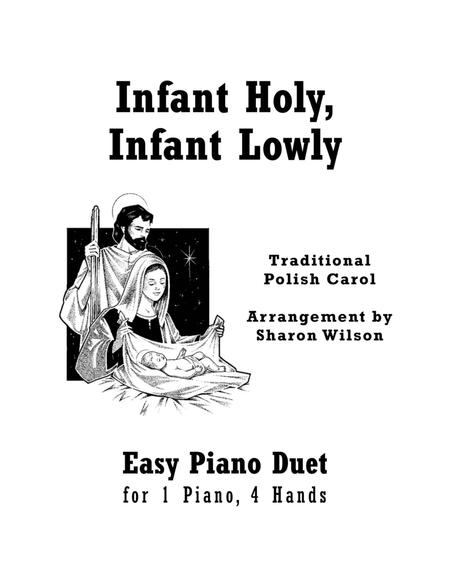 Infant Holy, Infant Lowly (Easy Piano Duet; 1 Piano, 4 Hands)