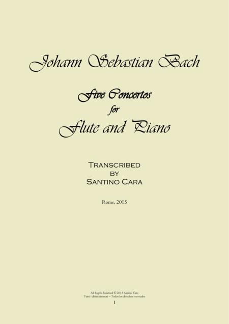 J.S.Bach - Flute and Piano - Five Concertos