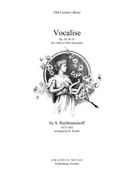 Vocalise Op. 34 for flute or violin and guitar