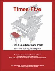 Times Five Piano Solo Score