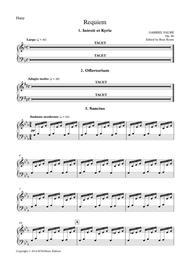 Requiem Op. 48, Instrumental parts