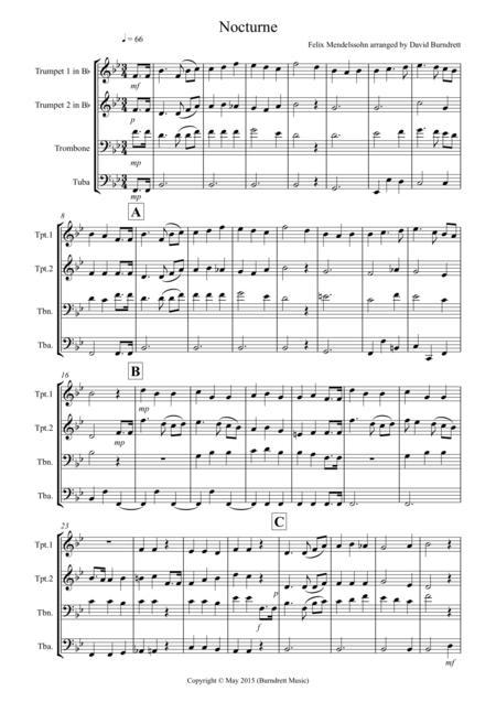 Nocturne (from A Midsummer Night's Dream for Brass Quartet
