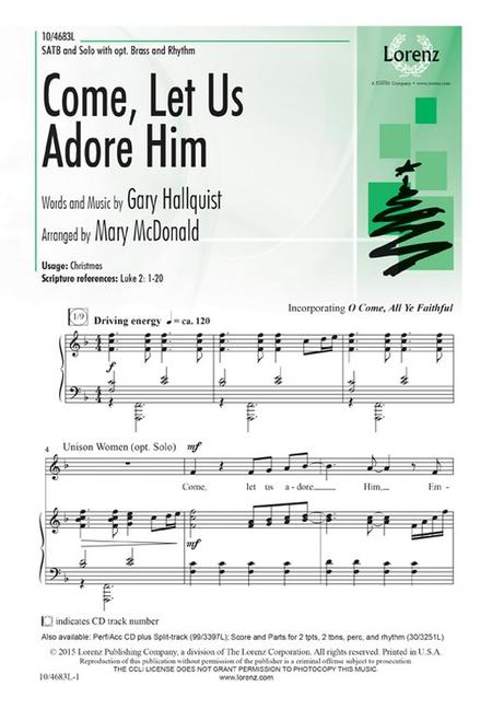 Come, Let Us Adore Him Sheet Music By Gary Hallquist - Sheet Music Plus