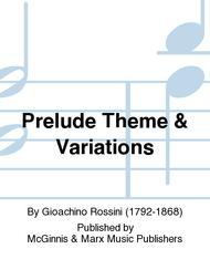 Prelude, Theme & Variations