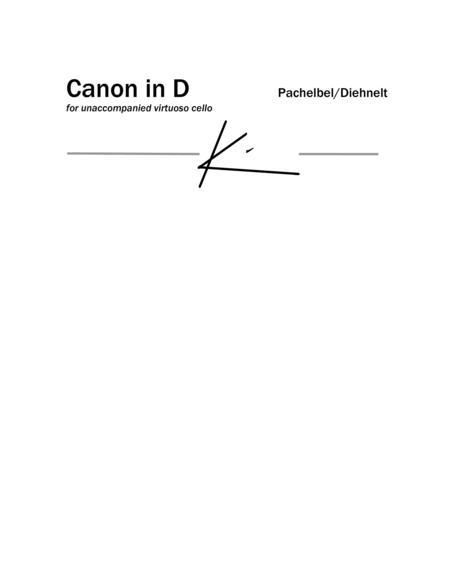 Pachelbel: Canon in D for Unaccompanied virtuoso cello