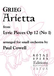 GRIEG Arietta arranged for small orchestra