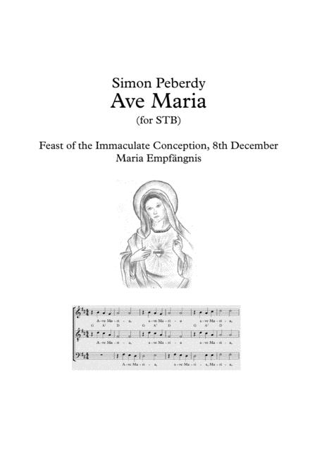 Ave Maria for STB (or just S&T) in German, suitable for Maria Emfpängnis (Feast of the Immaculate Conception) with piano / guitar by Simon Peberdy