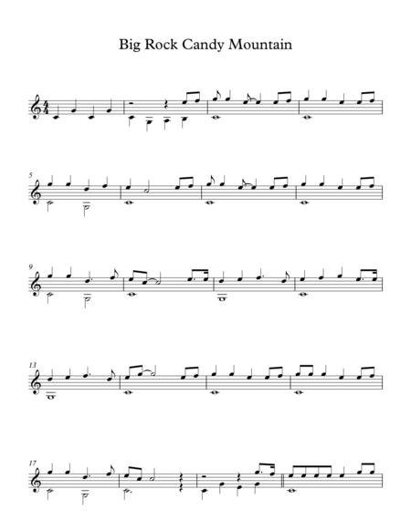 Download Big Rock Candy Mountain - American Traditional Song Sheet ...