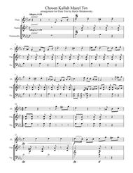 Chosen Kallah Mazel Tov Flute Trio Arrangement