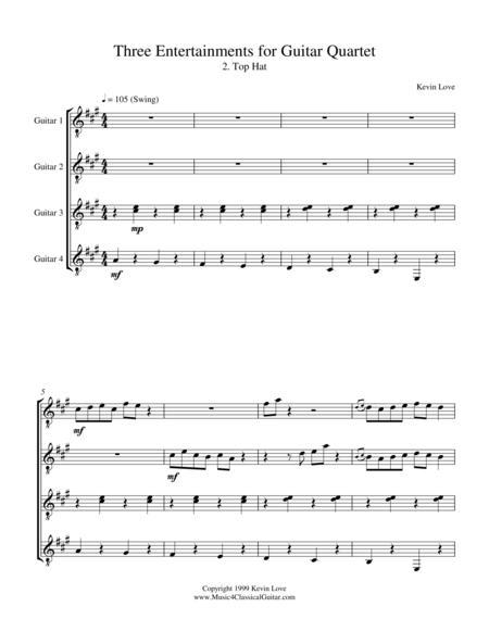 Top Hat (Guitar Quartet) - Score and Parts