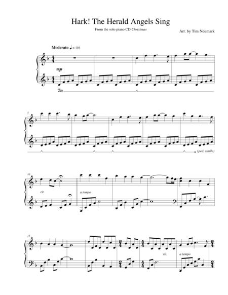 Download Hark The Herald Angels Sing Sheet Music By Public