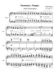 Debussy - Nocturnes: #1 Nuages (piano transcription)
