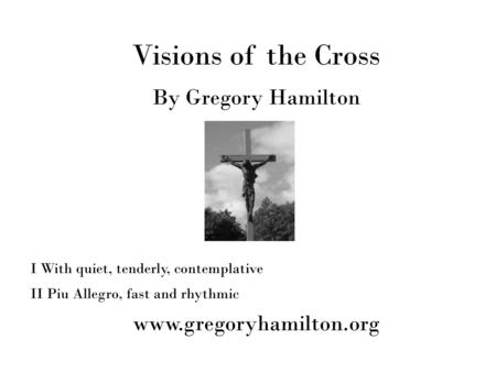 Visions of the Cross for Violin and Piano