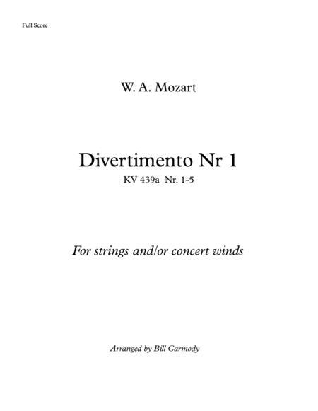 Mozart Divertimento Nr 1 concert pitch